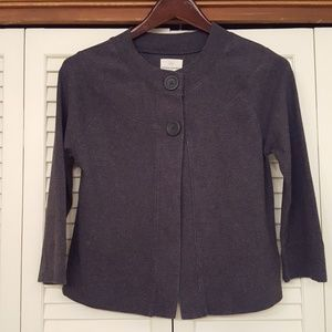 BANANA REPUBLIC GRAY 3/4 SLEEVE LENGTH JACKET